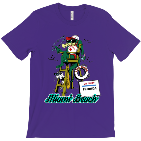Purple Florida Alligator Lifeguard T-Shirt