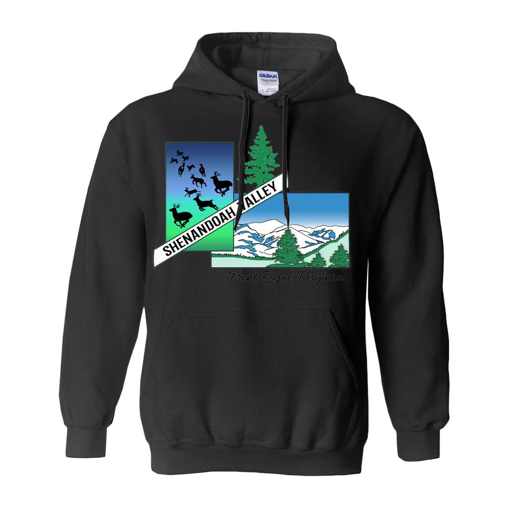 Shenandoah Valley Deer And Mountains Hoodies (No-Zip/Pullover)