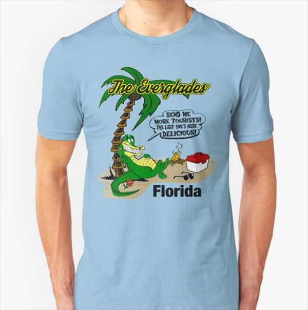 Send More Tourists Alligator T-Shirt