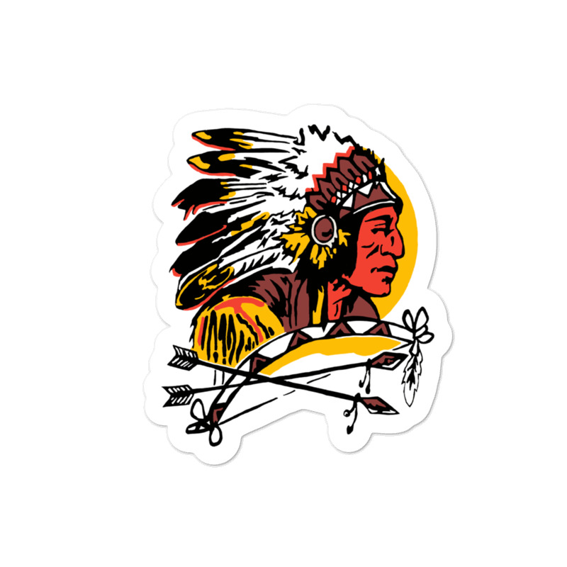 Native American Head with Bow Bubble-free stickers