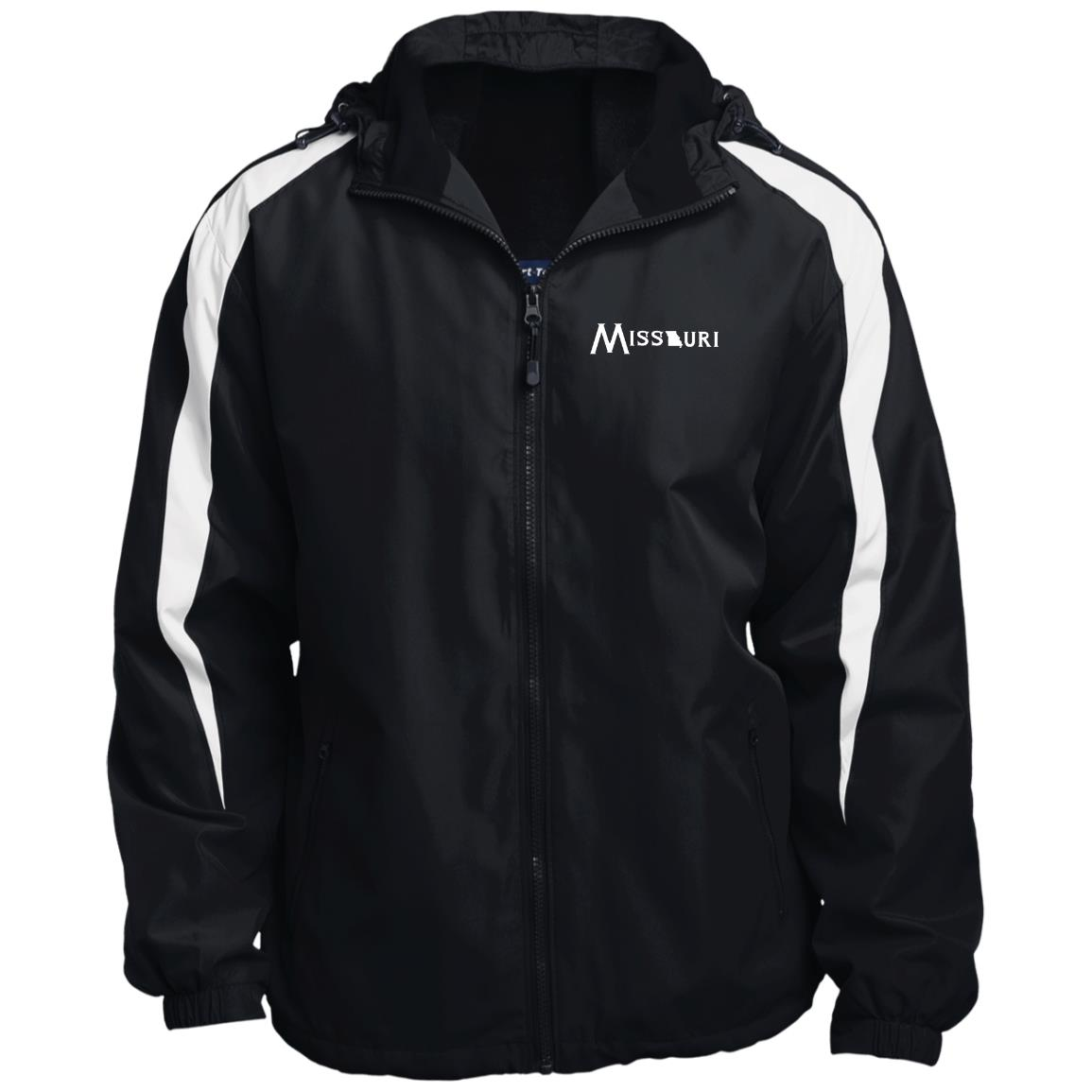 Missouri with State Image Fleece Lined Colorblocked Hooded Jacket