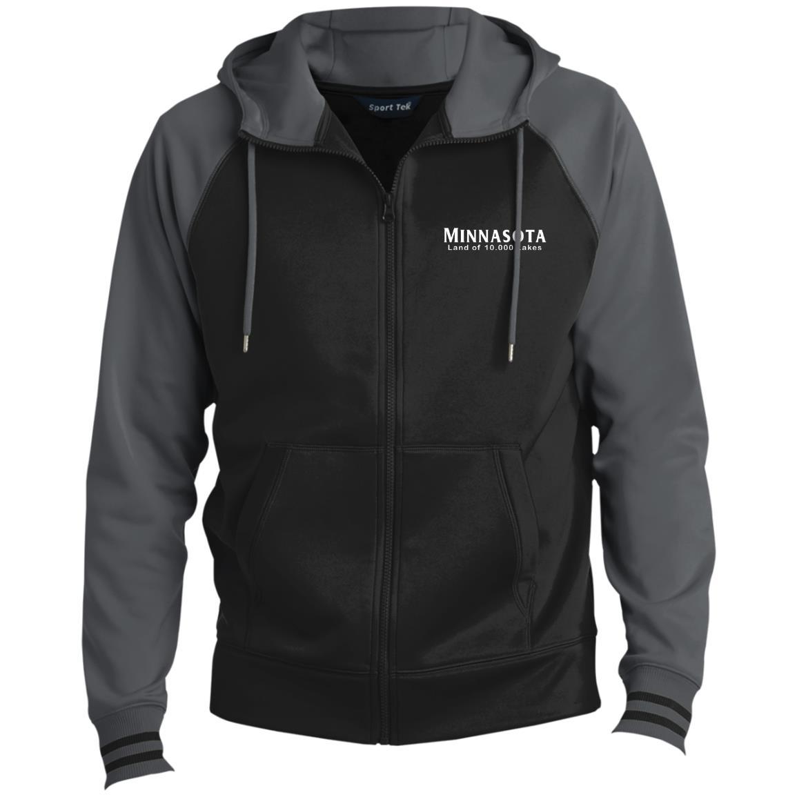 Minnasota Land of 10,000 Lakes Men's Sport-Wick® Full-Zip Hooded Jacket