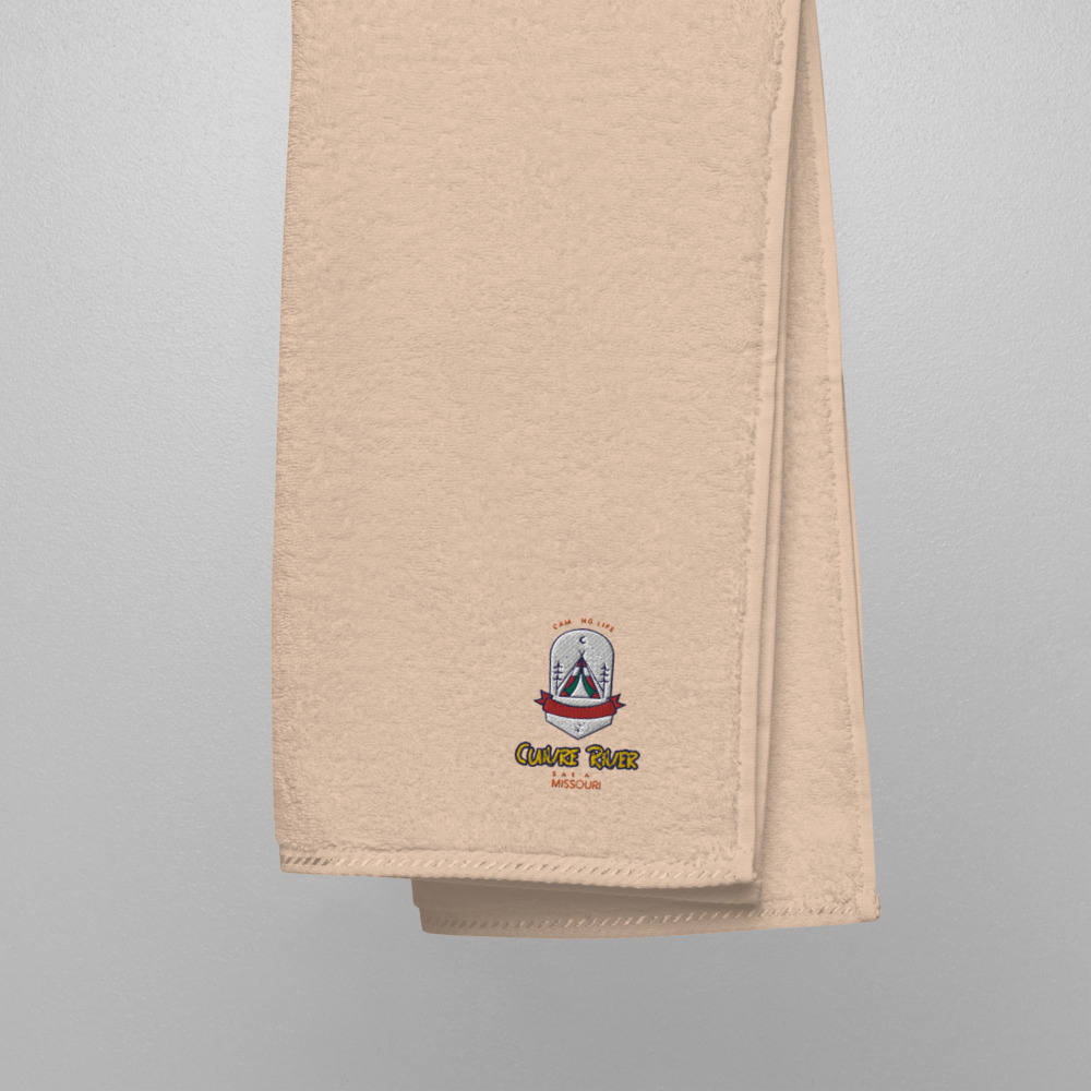 Cuivre River Missouri Camping Embroidered Turkish Cotton Towel