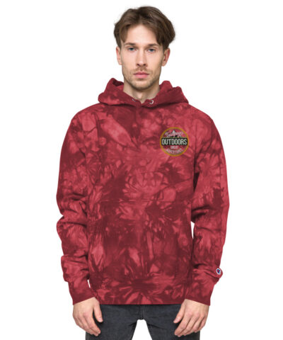Camping Outdoors Adventures Unisex Embroidered Champion Tie-Dye Hoodie