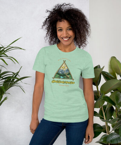 Wild Adventures Great Smoky Mountain Tennessee Deer  Short-Sleeve Unisex T-Shirt