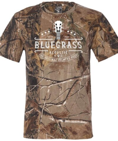 Bluegrass Acoustic The Original Country Music Short Sleeve Camouflage T-Shirt